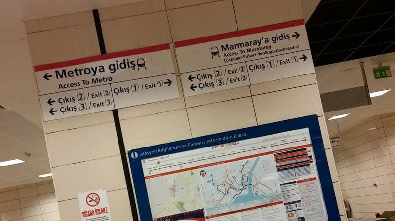 Yenikapı Kadıköy arası, Marmaray ile 8 dakika, istasyondan otobüs durağı 15 dakika.. Puahahaha